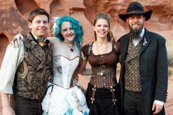 Steampunk - Lyndsey Clark (made the bride's dress).