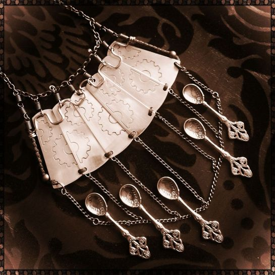 Necklace by TheNavigatrix with etched elements by ArcaneArmoury (plus added Spoons!